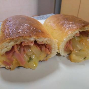 Adam Pizza dough second slice