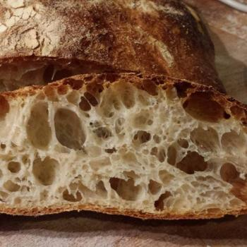 Behemoth  i have no waist so i only make bread  with my  levain  first slice