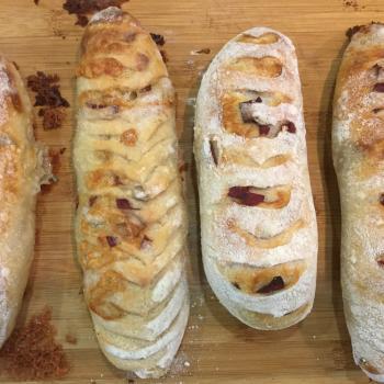 HealthyYummySpelt savoury breads second slice