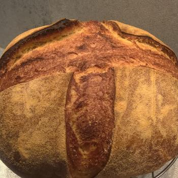 Katerina's Prozymaki Bread first slice