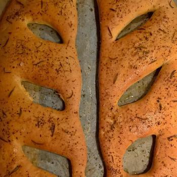 Katerina's Prozymaki Fougasse second slice