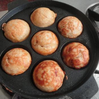 Puneri Paniyaram first slice